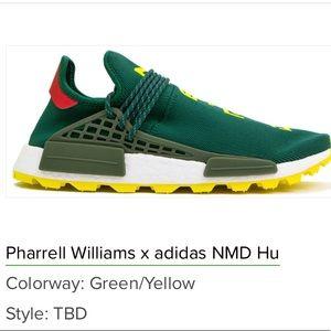 adidas NMD Hu Pharrell NERD Green Yellow